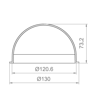 4.7 inch Vandal-proof Dome Cover